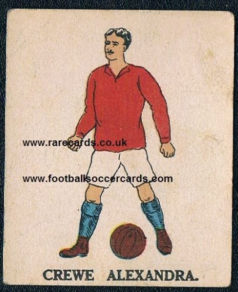 1923 Crewe Alexandra Battocks card